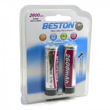 Аккумулятор BESTON 18650 2600mAh Li-ion 2шт
